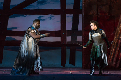 "John Holiday as Caesar and Sarah Mesko as Emilia in The Glimmerglass Festival's 2015 production of Vivaldi's ""Cato in Utica."" Photo: Karli Cadel/The Glimmerglass Festival."