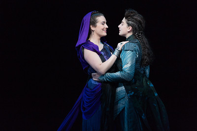 "Sarah Mesko as Emilia and Allegra De Vita as Fulvio in The Glimmerglass Festival's 2015 production of Vivaldi's ""Cato in Utica."" Photo: Karli Cadel/The Glimmerglass Festival."