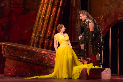 "Megan Samarin as Marzia and Eric Jurenas as Arbace in The Glimmerglass Festival's 2015 production of Vivaldi's ""Cato in Utica."" Photo: Karli Cadel/The Glimmerglass Festival"