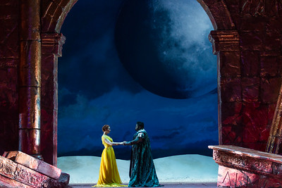 "Megan Samarin as Marzia and John Holiday as Caesar in The Glimmerglass Festival's 2015 production of Vivaldi's ""Cato in Utica."" Photo: Karli Cadel/The Glimmerglass Festival"