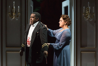 "Eric Owens as Macbeth and Melody Moore as Lady Macbeth in The Glimmerglass Festival's 2015 production of ""Macbeth."" Photo: Karli Cadel/The Glimmerglass Festival"