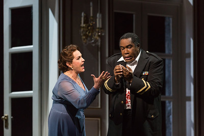 "Melody Moore as Lady Macbeth and Eric Owens as Macbeth in The Glimmerglass Festival's 2015 production of ""Macbeth."" Photo: Karli Cadel/The Glimmerglass Festival"