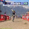 Hallie Whittington, JV from Salida celebrates her 2nd place finish. Photo Leslie Farnsworth-Lee.
