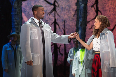 """Soloman Howard as Sarastro and Jacqueline Echols as Pamina in The Glimmerglass Festival's 2015 production of Mozart's """"The Magic Flute."""" Photo: Karli Cadel/The Glimmerglass Festival"""