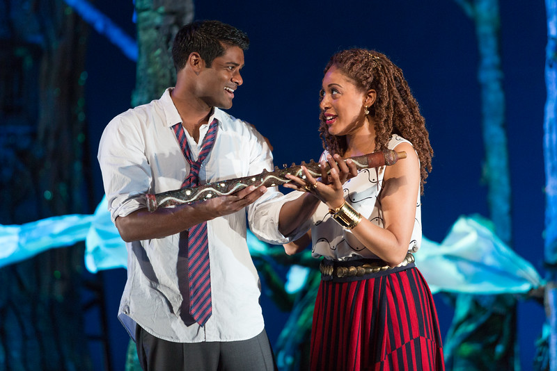 """Sean Panikkar as Tamino and Jacqueline Echols as Pamina in The Glimmerglass Festival's 2015 production of Mozart's """"The Magic Flute."""" Photo: Karli Cadel/The Glimmerglass Festival"""