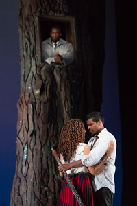 "Soloman Howard as Sarastro, Jacqueline Echols as Pamina and Sean Panikkar as Tamino in The Glimmerglass Festival's 2015 production of Mozart's ""The Magic Flute."" Photo: Karli Cadel/The Glimmerglass Festival"