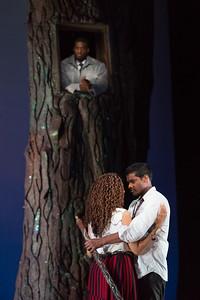 "Soloman Howard as Sarastro, Jacqueline Echols as Pamina and Sean Panikkar as Tamino in The Glimmerglass Festival's 2015 production of Mozart's ""The Magic Flute."" Photo: Karli Cadel/The Glimmerglass Festival"