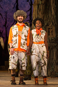 "Ben Edquist as Papageno and Jasmine Habersham as Papagena in The Glimmerglass Festival's 2015 production of Mozart's ""The Magic Flute."" Photo: Karli Cadel/The Glimmerglass Festival"