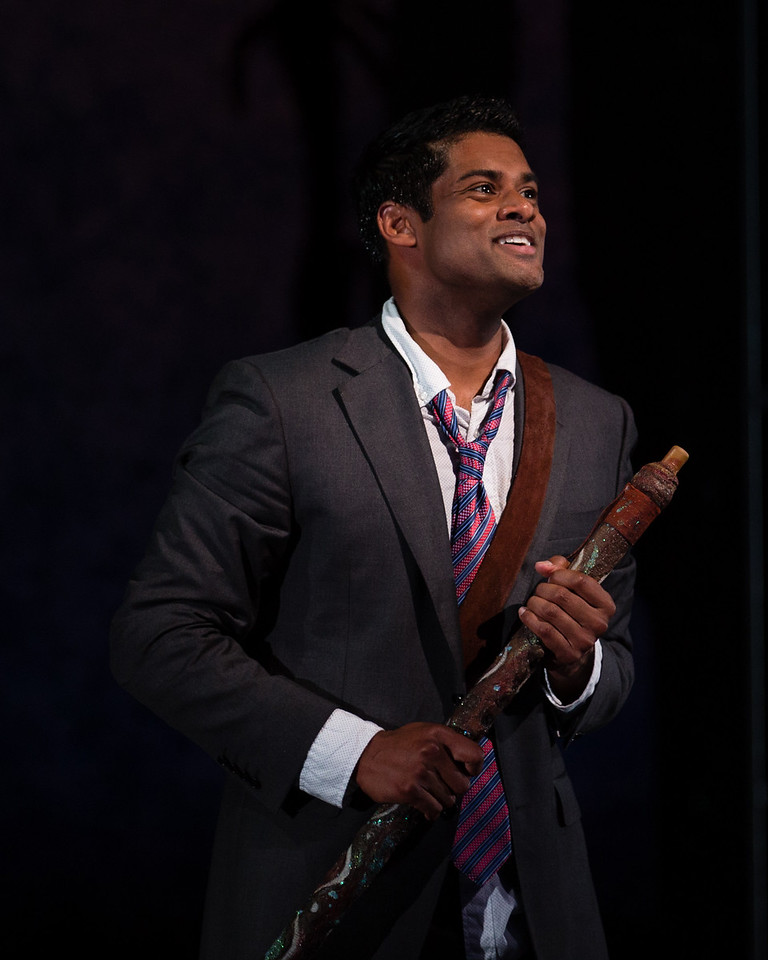 """Sean Panikkar as Tamino in The Glimmerglass Festival's 2015 production of Mozart's """"The Magic Flute."""" Photo: Dory Schultz/The Glimmerglass Festival"""