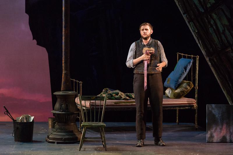 """Michael Brandenburg as Rodolfo in The Glimmerglass Festival production of Puccini's """"La bohème."""" Photo: Karli Cadel/The Glimmerglass Festival"""