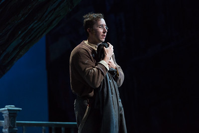 "Rhys Lloyd Talbot as Colline in The Glimmerglass Festival production of Puccini's ""La bohème."" Photo: Karli Cadel/The Glimmerglass Festival"