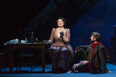 "Raquel González as Mimì and Michael Brandenburg as Rodolfo in The Glimmerglass Festival's production of Puccini's ""La bohème."" Photo: Karli Cadel/The Glimmerglass Festival"