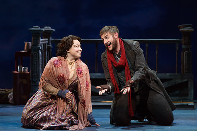 "Michael Brandenburg as Rodolfo and Raquel González as Mimì in The Glimmerglass Festival production of Puccini's ""La bohème."" Photo: Karli Cadel/The Glimmerglass Festival"