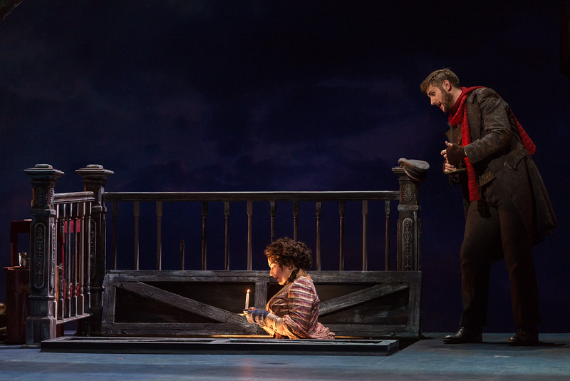 "Raquel González as Mimì and Michael Brandenburg as Rodolfo in The Glimmerglass Festival's production of Puccini's ""La bohème."" Photo: Karli Cadel/The Glimmerglass Festival"