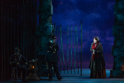 "Raquel González as Mimì and members of the ensemble in The Glimmerglass Festival production of Puccini's ""La bohème."" Photo: Karli Cadel/The Glimmerglass Festival"