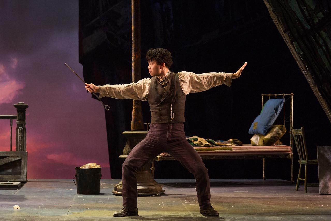 "Brian Vu as Schaunard in The Glimmerglass Festival production of Puccini's ""La bohème."" Photo: Karli Cadel/The Glimmerglass Festival"