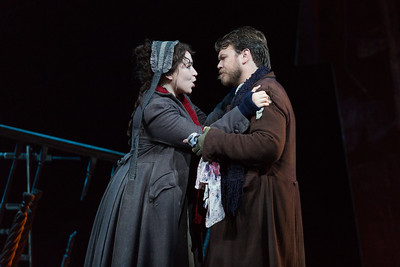"Raquel González as Mimì and Hunter Enoch as Marcello in The Glimmerglass Festival production of Puccini's ""La bohème."" Photo: Karli Cadel/The Glimmerglass Festival"