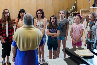 The youth chorus of The Glimmerglass Festival production of La bohème. Photo: Karli Cadel/The Glimmerglass Festival.