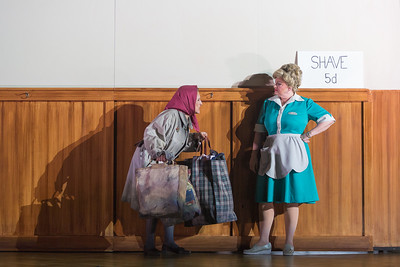 """Patricia Schuman (left) as Beggar Woman and Luretta Bybee as Mrs. Lovett in The Glimmerglass Festival's production of Stephen Sondheim's """"Sweeney Todd."""" Photo: Karli Cadel/The Glimmerglass Festival"""