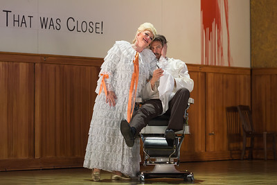 """Luretta Bybee as Mrs. Lovett and Greer Grimsley in the title of The Glimmerglass Festival production of Stephen Sondheim's """"Sweeney Todd."""" Photo: Karli Cadel/The Glimmerglass Festival"""