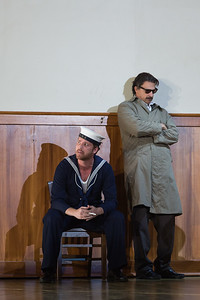 """Harry Greenleaf (left) as Anthony Hope and Greer Grimsley as the title character in The Glimmerglass Festival's production of Stephen Sondheim's """"Sweeney Todd."""" Photo: Karli Cadel/The Glimmerglass Festival"""