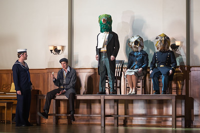 """Harry Greenleaf (left) as Anthony Hope and members of the ensemble in The Glimmerglass Festival's production of Stephen Sondheim's """"Sweeney Todd."""" Photo: Karli Cadel/The Glimmerglass Festival"""