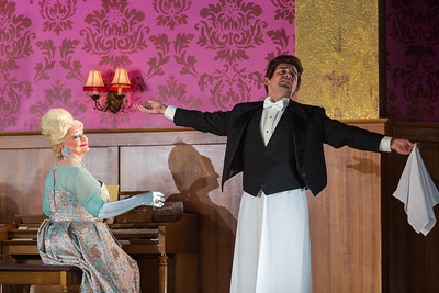 "Luretta Bybee as Mrs. Lovett and Nicholas Nestorak as Tobias Ragg in The Glimmerglass Festival production of Stephen Sondheim's ""Sweeney Todd."" Photo: Karli Cadel/The Glimmerglass Festival"
