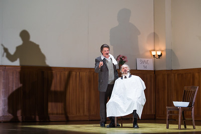 """Greer Grimsley (left) in the title role and Peter Volpe as Judge Turpin in The Glimmerglass Festival's production of Stephen Sondheim's """"Sweeney Todd."""" Photo: Karli Cadel/The Glimmerglass Festival"""