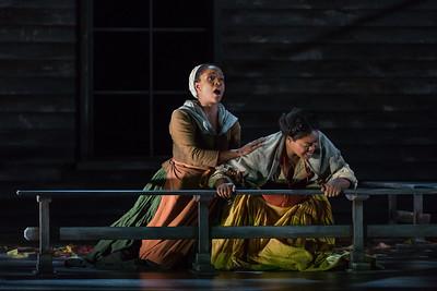 "Meroë Khalia Adeeb as Sarah Good and Zoie Reams as Tituba in The Glimmerglass Festival's production of Robert Ward's ""The Crucible."" Photo: Karli Cadel/The Glimmerglass Festival"