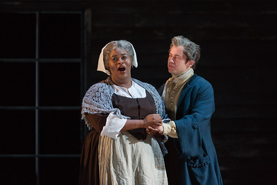 """Helena Brown as Rebecca Nurse and Zachary Owen as Francis Nurse  in The Glimmerglass Festival's production of Robert Ward's """"The Crucible."""" Photo: Karli Cadel/The Glimmerglass Festival"""