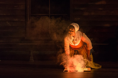 """Zoie Reams as Tituba  in The Glimmerglass Festival's production of Robert Ward's """"The Crucible."""" Photo: Karli Cadel/The Glimmerglass Festival"""