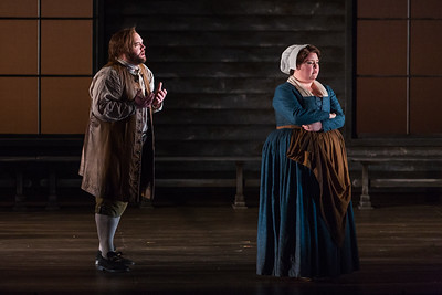 """Brian Mulligan as John Proctor and Jamie Barton as Elizabeth Barton in The Glimmerglass Festival's production of Robert Ward's """"The Crucible."""" Photo: Karli Cadel/The Glimmerglass Festival"""