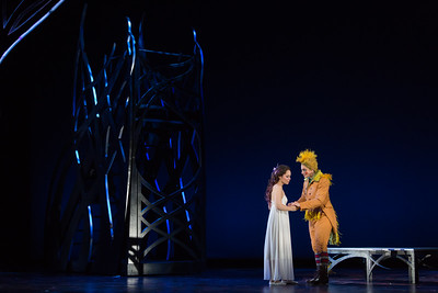 "Rachele Gilmore (L) as Ninetta and Allegra De Vita as Pippo in The Glimmerglass Festival's production of ""The Thieving Magpie"""