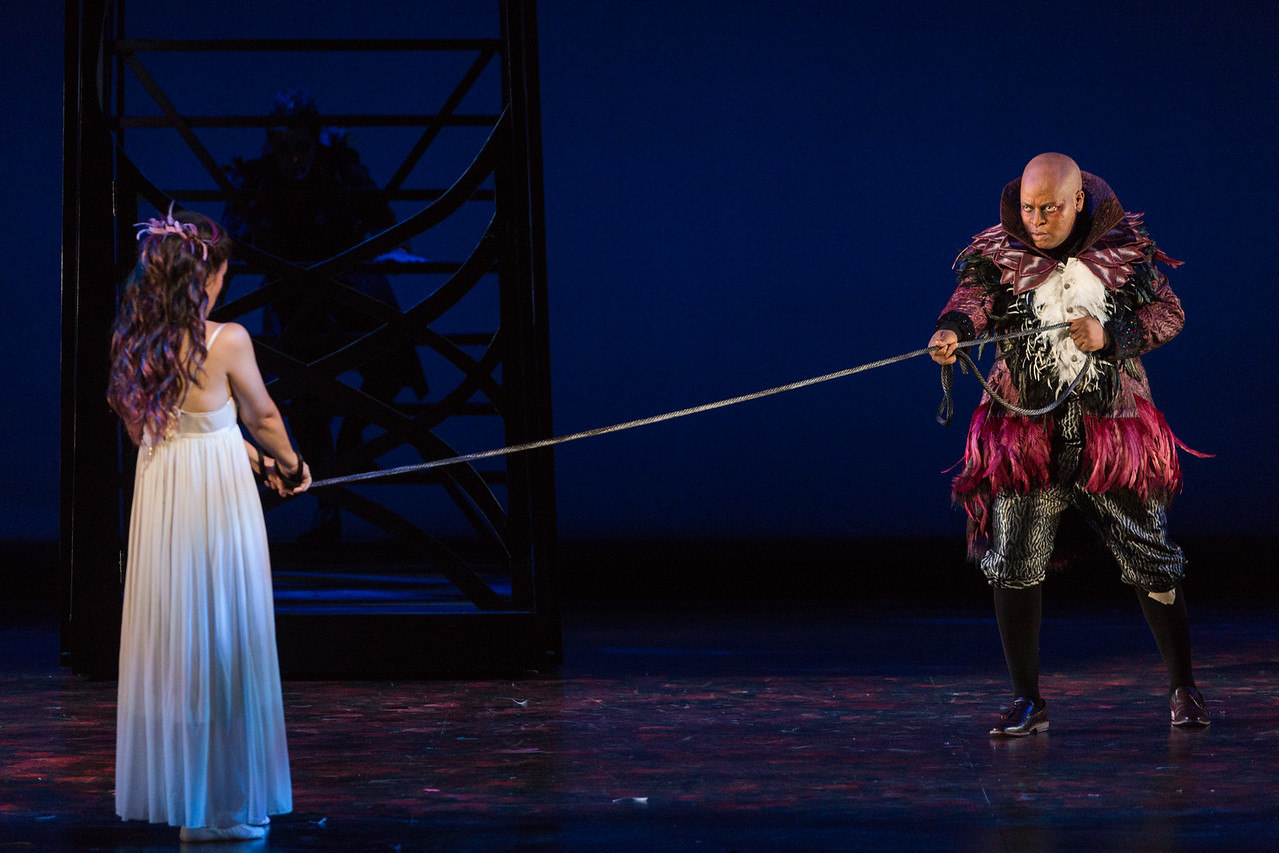 """Rachele Gilmore as Ninetta and Musa Ngqungwana as Gottardo in The Glimmerglass Festival's production of """"The Thieving Magpie"""""""