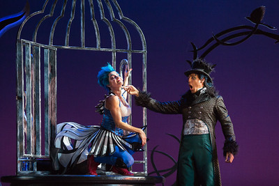 "Meg Gillentine as the Magpie and Calvin Griffin as Fabrizio Vingradito in The Glimmerglass Festival's production of Rossini's ""The Thieving Magpie."" Photo: Karli Cadel/The Glimmerglass Festival"