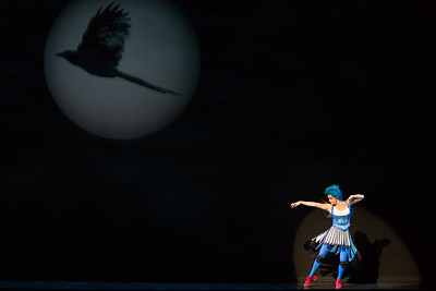 "Meg Gillentine as the Magpie in The Glimmerglass Festival's production of Rossini's ""The Thieving Magpie."" Photo: Karli Cadel/The Glimmerglass Festival"