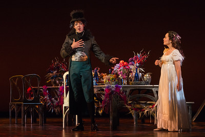 "Calvin Griffin as Fabrizio Vingradito and Rachele Gilmore as Ninetta in The Glimmerglass Festival's production of Rossini's ""The Thieving Magpie."" Photo: Karli Cadel/The Glimmerglass Festival"