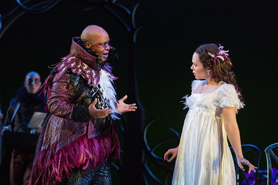 "Musa Ngqungwana as Gottardo and Rachele Gilmore as Ninetta in The Glimmerglass Festival's production of Rossini's ""The Thieving Magpie."" Photo: Karli Cadel/The Glimmerglass Festival"