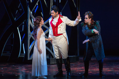 "Rachele Gilmore as Ninetta, Michele Angelini as Giannetto and  Brad Raymond as Antonio in The Glimmerglass Festival's production of ""The Thieving Magpie"""