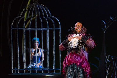 "Musa Ngqungwana as Gottardo in The Glimmerglass Festival's production of Rossini's ""The Thieving Magpie."" Photo: Karli Cadel/The Glimmerglass Festival"