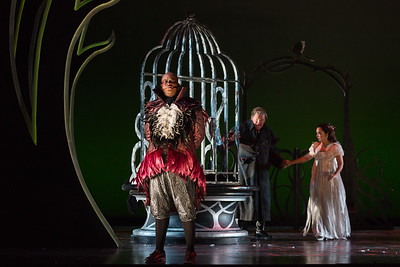 "L to R: Musa Ngqungwana as Gottardo, Dale Travis as Fernando Villabella and Rachele Gilmore as Ninetta in The Glimmerglass Festival's production of ""The Thieving Magpie"""