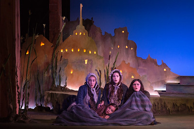 "L to R: Antonia Mody, Julia Bergeron, Franny Lucey‐McCabe and Molly Bello in The Glimmerglass Festival's world-premiere production of Laura Karpman and Kelley Rourke's ""Wilde Tales."" Photo: Karli Cadel/The Glimmerglass Festival."