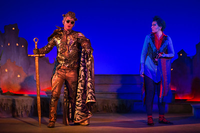"Brian Vu as The Happy Prince and Mary Beth Nelson as the Swallow in The Glimmerglass Festival's world-premiere production of Laura Karpman and Kelley Rourke's ""Wilde Tales."" Photo: Karli Cadel/The Glimmerglass Festival."