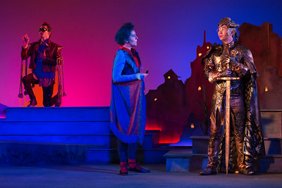 "Richard Pittsinger as the Remarkable Rocket, Mary Beth Nelson as the Swallow and Brian Vu as The Happy Prince in The Glimmerglass Festival's world-premiere production of Laura Karpman and Kelley Rourke's ""Wilde Tales."" Photo: Karli Cadel/The Glimmerglass Festival."
