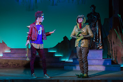 "Richard Pittsinger as the Remarkable Rocket and Jeremy Wainwright as the Frog in The Glimmerglass Festival's world-premiere production of Laura Karpman and Kelley Rourke's ""Wilde Tales."" Photo: Karli Cadel/The Glimmerglass Festival."
