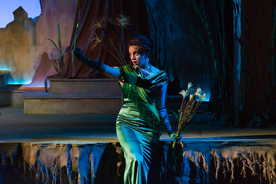 "Emma Grimsley as the Reed in The Glimmerglass Festival's world-premiere production of Laura Karpman and Kelley Rourke's ""Wilde Tales."" Photo: Karli Cadel/The Glimmerglass Festival."