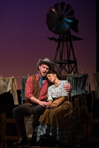 "Jarrett Ott as Curly and Vancessa Becerra as Laurey in The Glimmerglass Festival's 2017 production of Rodgers and Hammerstein's ""Oklahoma!"" Photo: Karli Cadel/The Glimmerglass Festival"