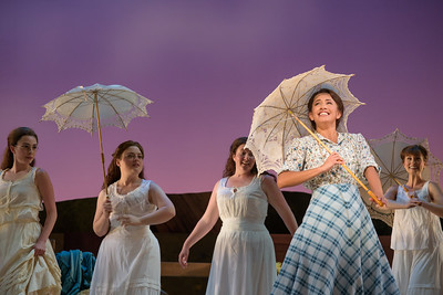 "Vanessa Becerra as Laurey with members of the ensemble in The Glimmerglass Festival's 2017 production of Rodgers and Hammerstein's ""Oklahoma!"" Photo: Carrington Spires/The Glimmerglass Festival"