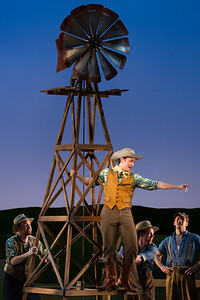"Michael Roach as Will Parker with members of the ensemble in The Glimmerglass Festival's 2017 production of Rodgers and Hammerstein's ""Oklahoma!"" Photo: Karli Cadel/The Glimmerglass Festival"