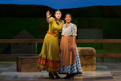 "L to R: Emma Roos as Ado Annie Carnes and Vanessa Becerra as Laurey in The Glimmerglass Festival's 2017 production of Rodgers and Hammerstein's ""Oklahoma!"" Photo: Karli Cadel/The Glimmerglass Festival"